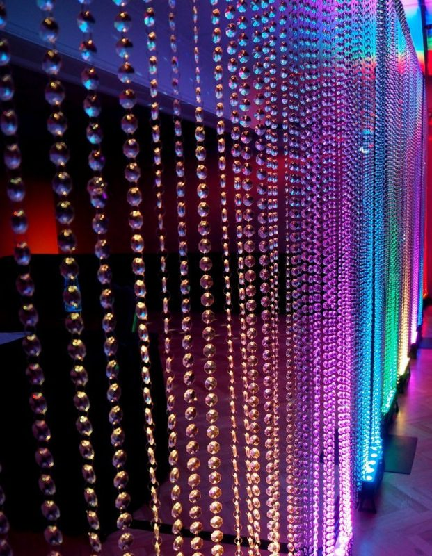 Coloured Beaded Curtain - Crystal Beaded Curtain Hire Feel Good Events Melbourne