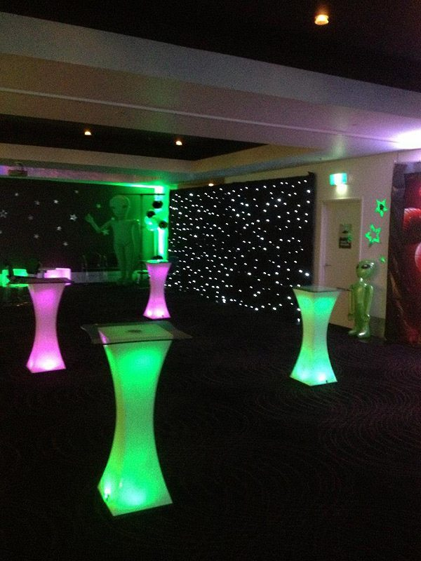 Illuminated High Bar Tables Hire | Feel Good Events | Melbourne