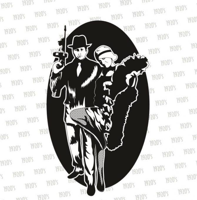 Medium Backdrop - 1920's Gangsta
