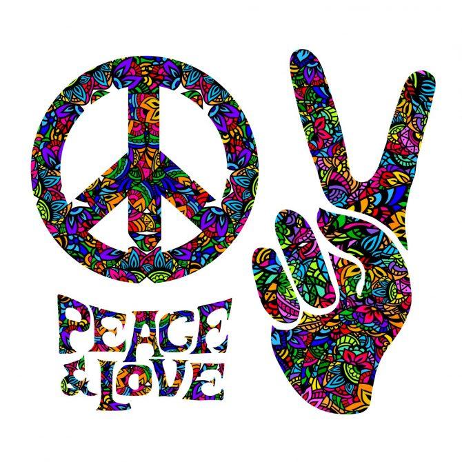 """60's Peace & Love"" Backdrop"