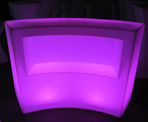 Back of illuminated curved bar melbourne hire