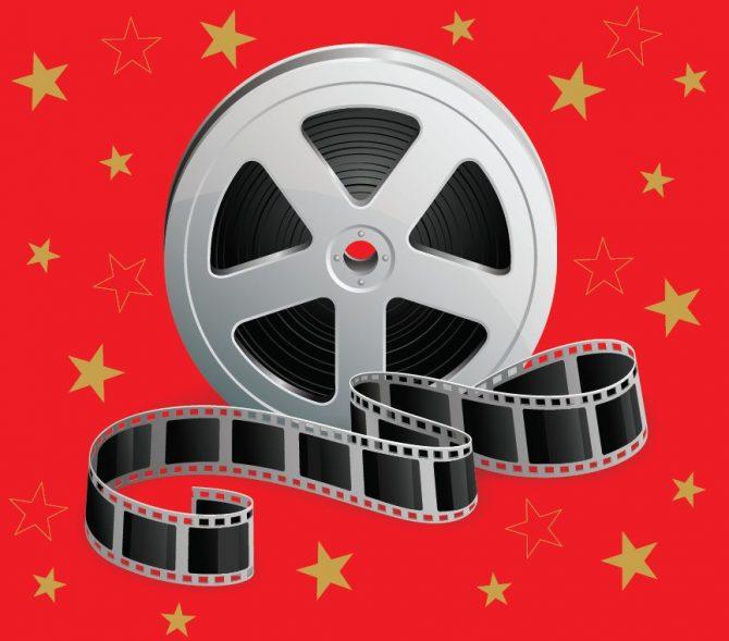 Medium Backdrop - Movie Reel With Stars