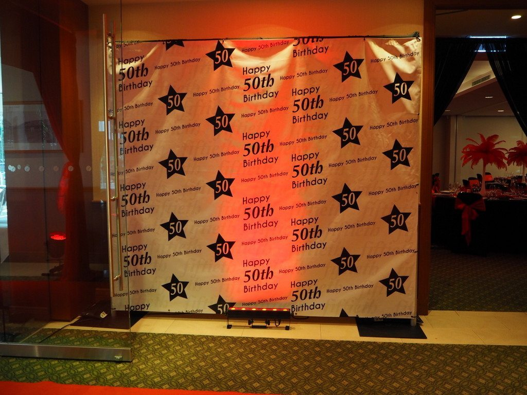 Birthday backdrop feel good events melbourne for 30th birthday decoration packages