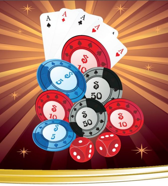Medium Backdrop - Casino Chips With Ace