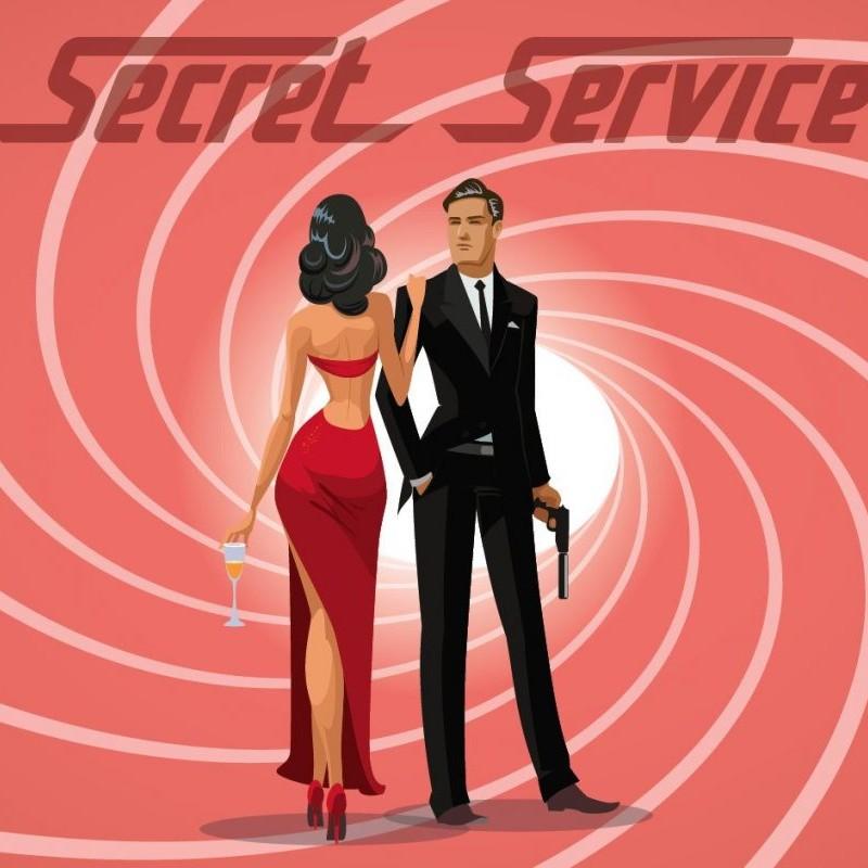 Medium Backdrop - Secret Service - Pink