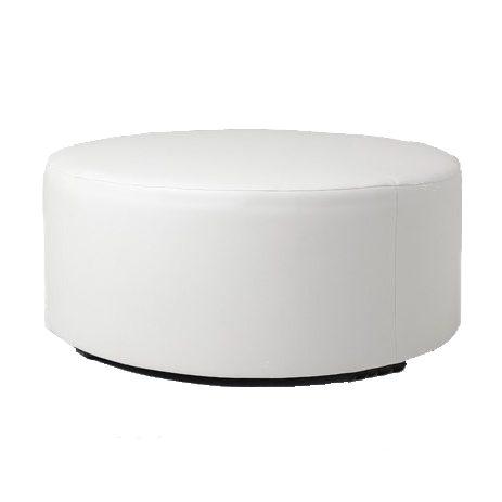 White-Round-Ottoman-Hire-Melbourne