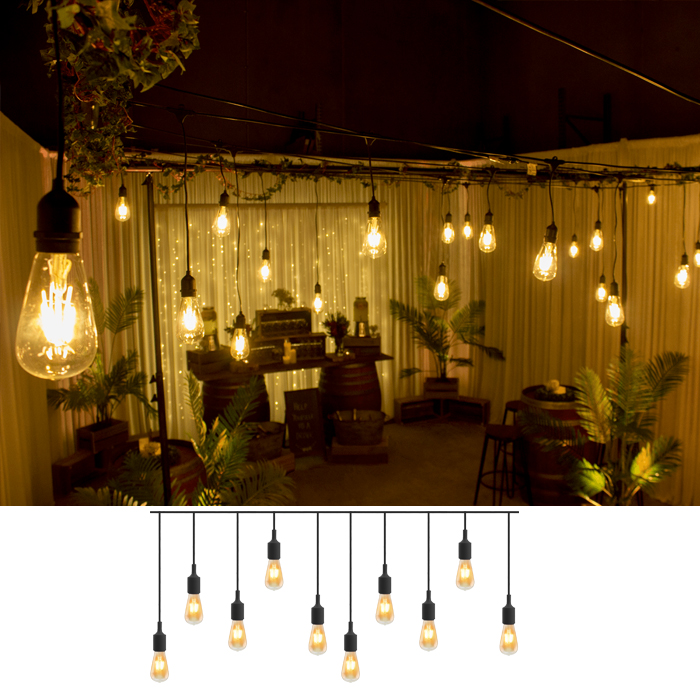 Festoon Pendant Light Hire