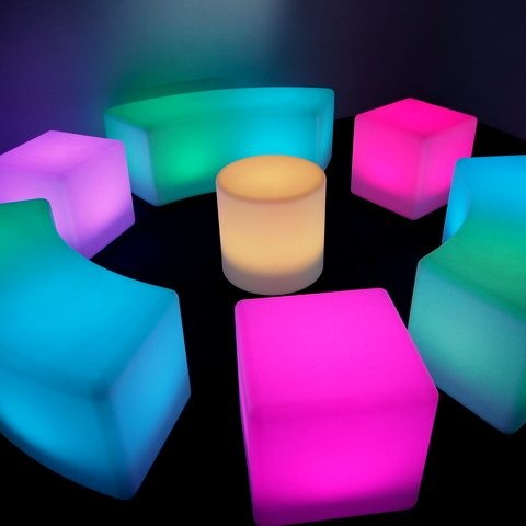 Glow Furniture - LED stool, cube & bench