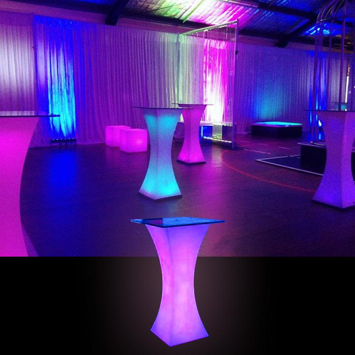 Led High Bar Table Hire Feel Good Events Melbourne
