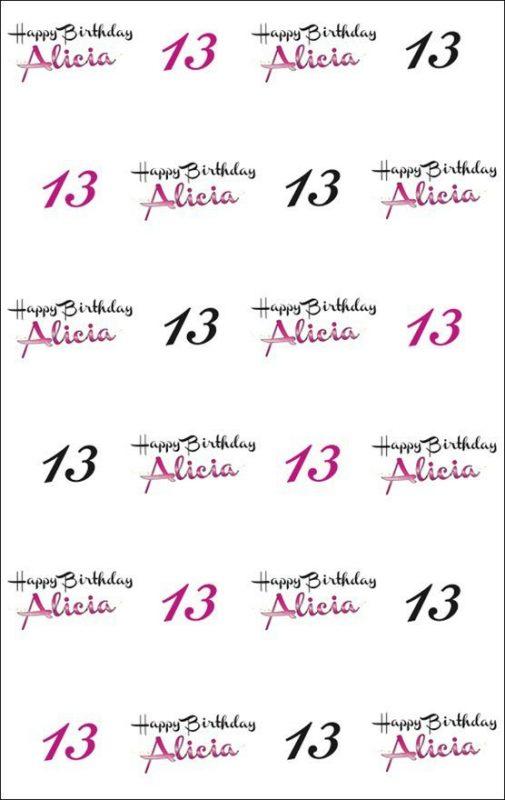 Custom Birthday Backdrop - Alicia 13th