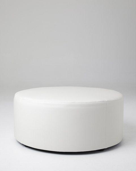 White Round Ottomans