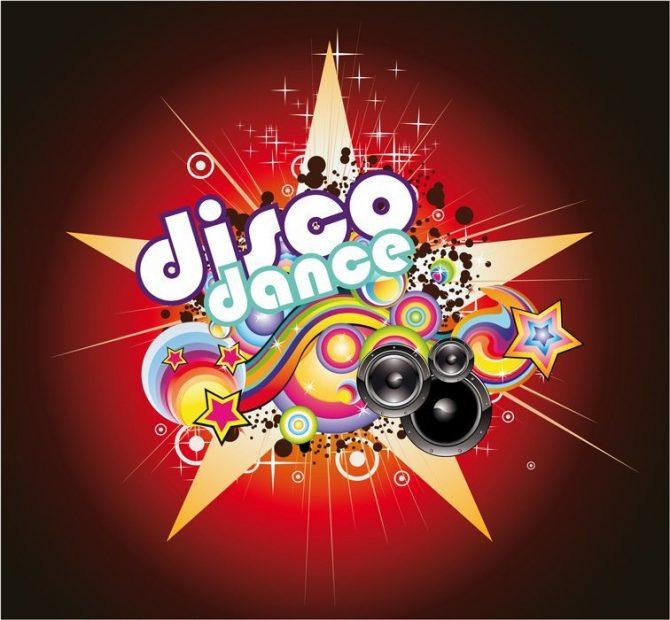 "Large Backdrop - ""Disco Dance"""