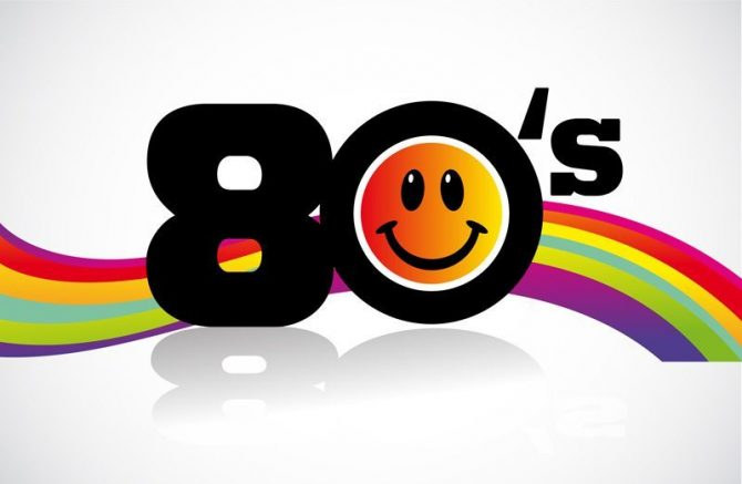 Large Backdrop - 80's With Smiley Face