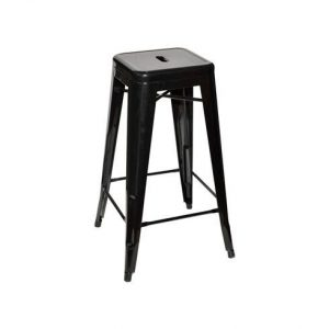 Tall Black Bar Stool