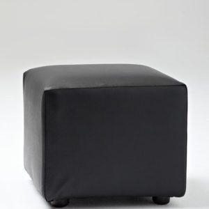 Small Black Ottoman Cube