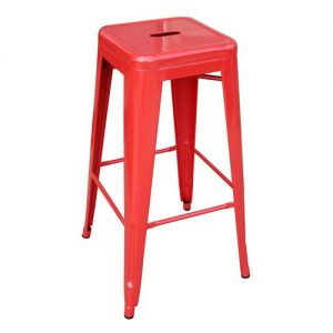 Tall Red Bar Stool