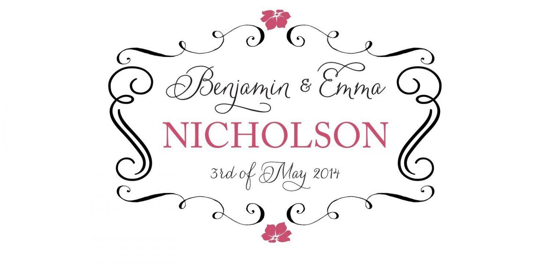 Wedding Floral Scroll Backdrop