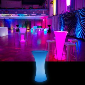 LED High Round Table Hire