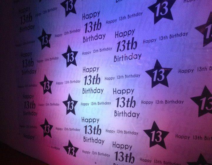 13th Birthday Backdrop