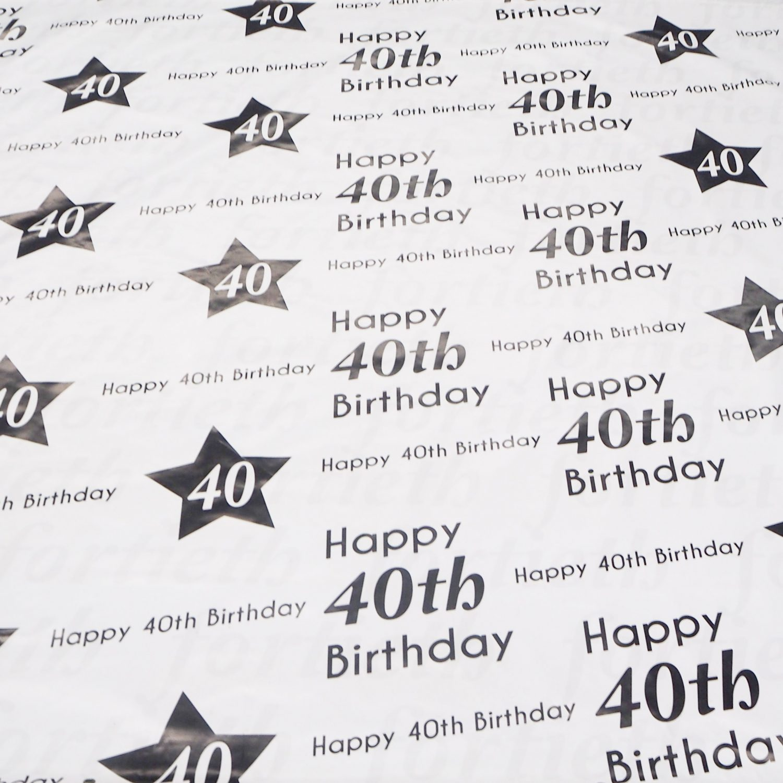 40th Birthday Backdrop Hire
