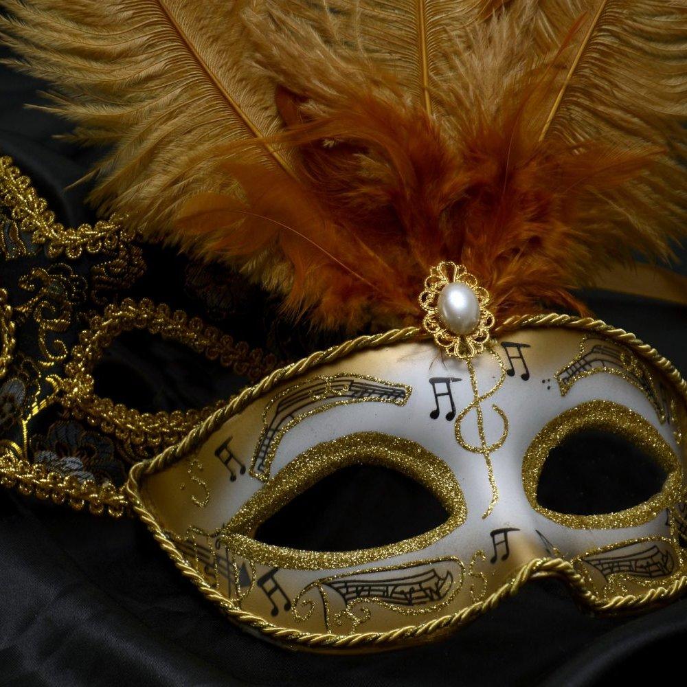 masquerade mask FGE hire theme