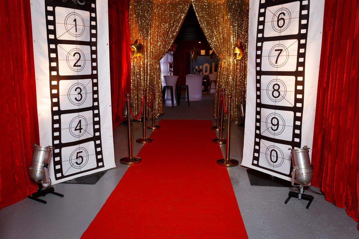 Medium Backdrop - Movie Reel Red Carpet