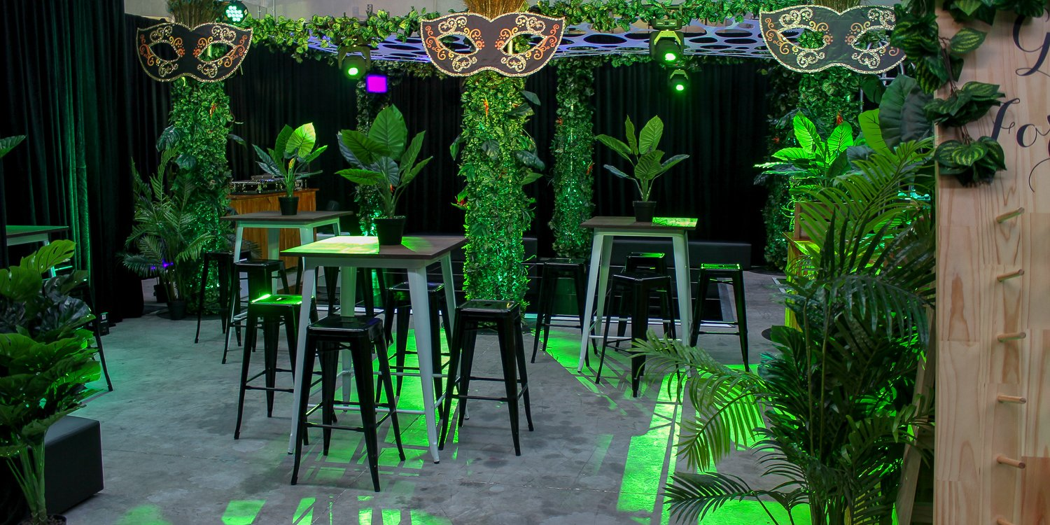 party decorations with rigging and truss