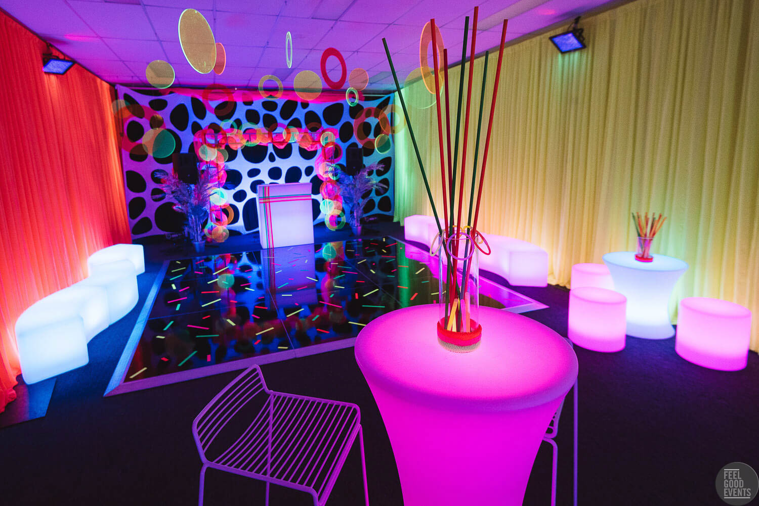 Complete Neon Themed Party Hire in Melbourne