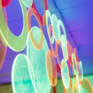 Fluro Ring Decor Hire Melbourne