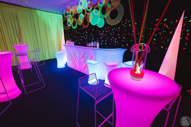 Glow themed decor hire melbourne