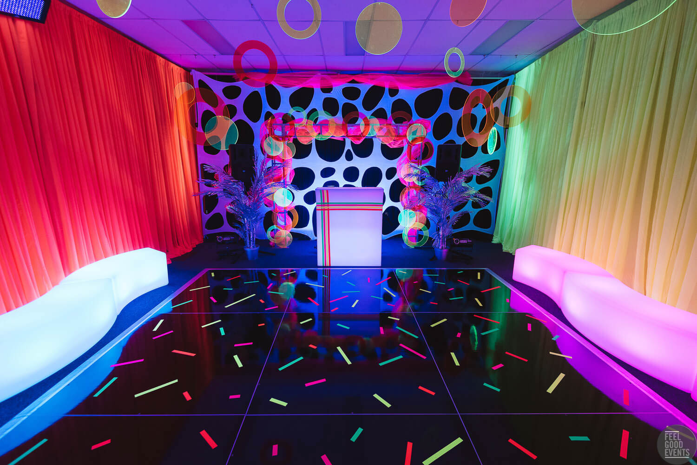 Glowing Theme Party Setup Melbourne
