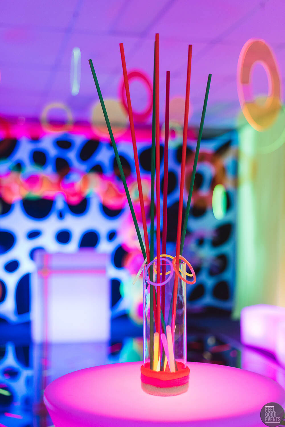 Glowing Themed Centerpiece Hire Melbourne
