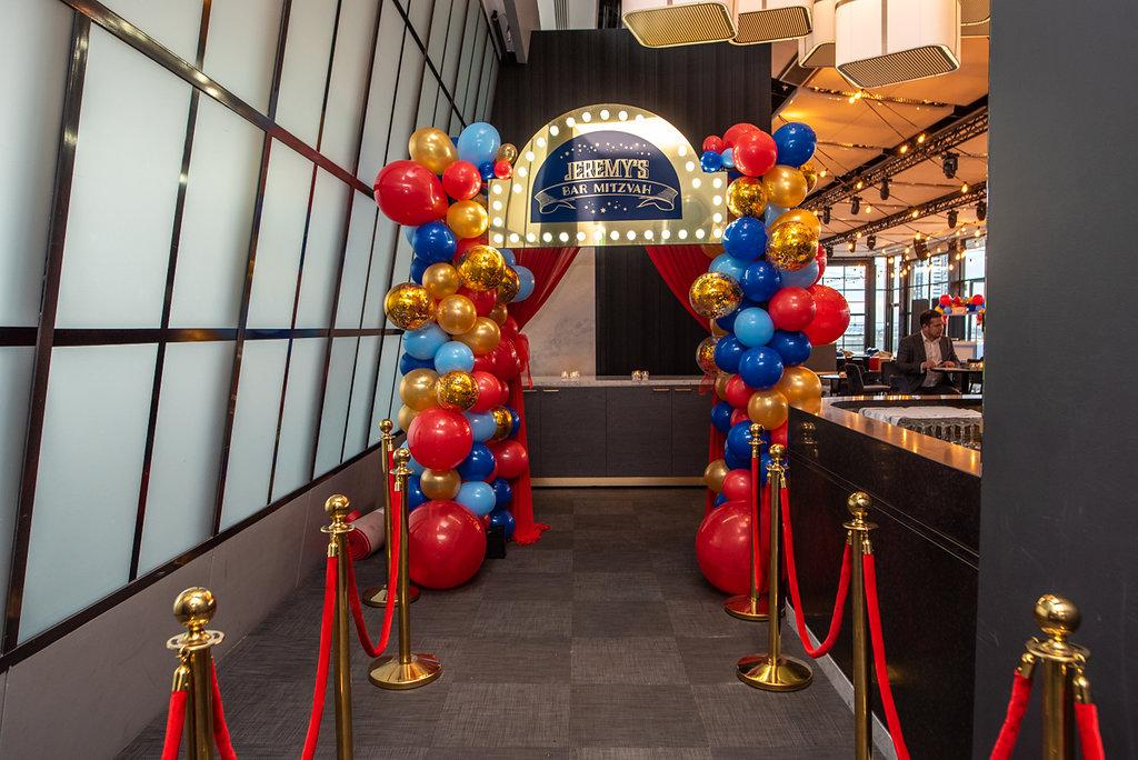 bar mitzvah party hire entrance