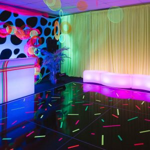 Neon Party Theme Dance Floor And Furniture Hire Melbourne