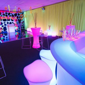 complete neon themed event setup hire melbourne