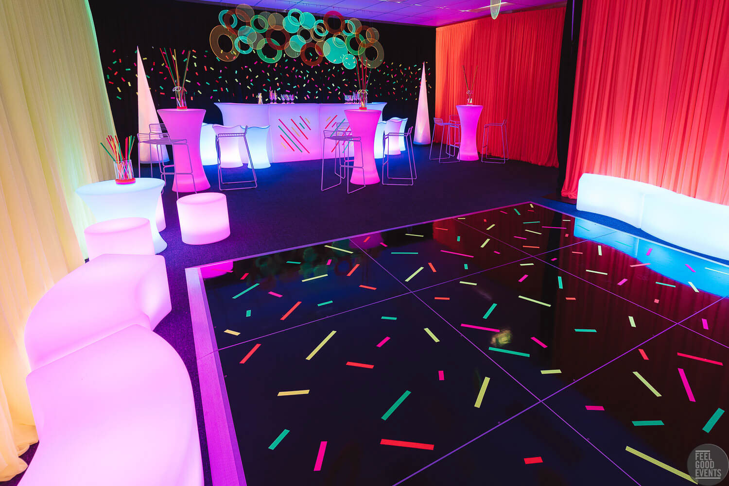 Glow Fluro Amp Black Light Theme Party Equipment Hire