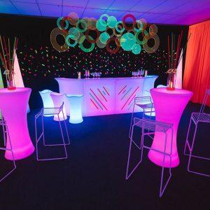 Glow, Fluro & Black Light Theme Party Equipment Hire | Feel