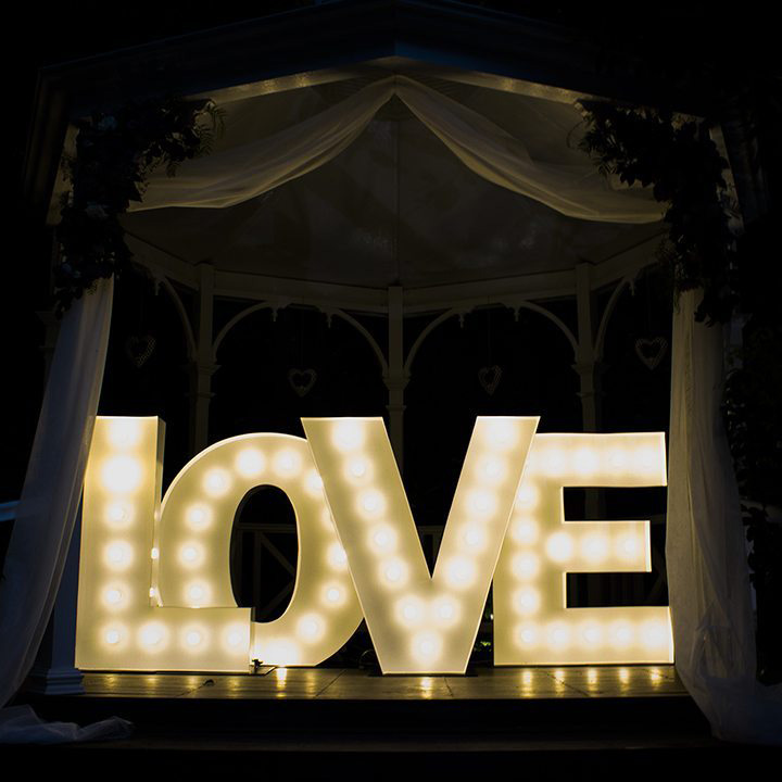 light up love sign hire feel good events melbourne