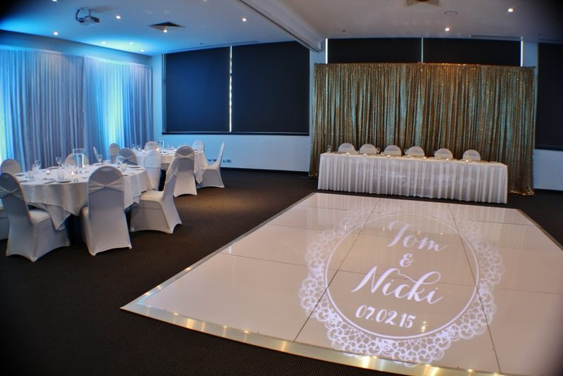 White Dance Floor Hire Feel Good Events Melbourne