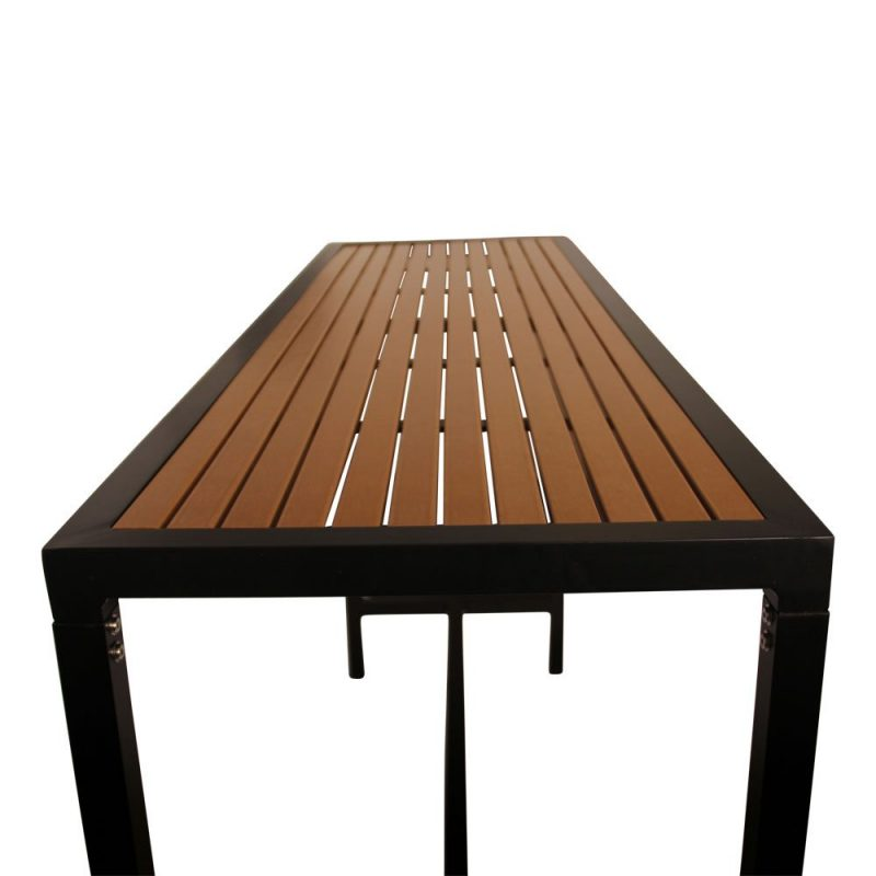 Slatted Timber Table Top Bar Table Bench Feel Good Events