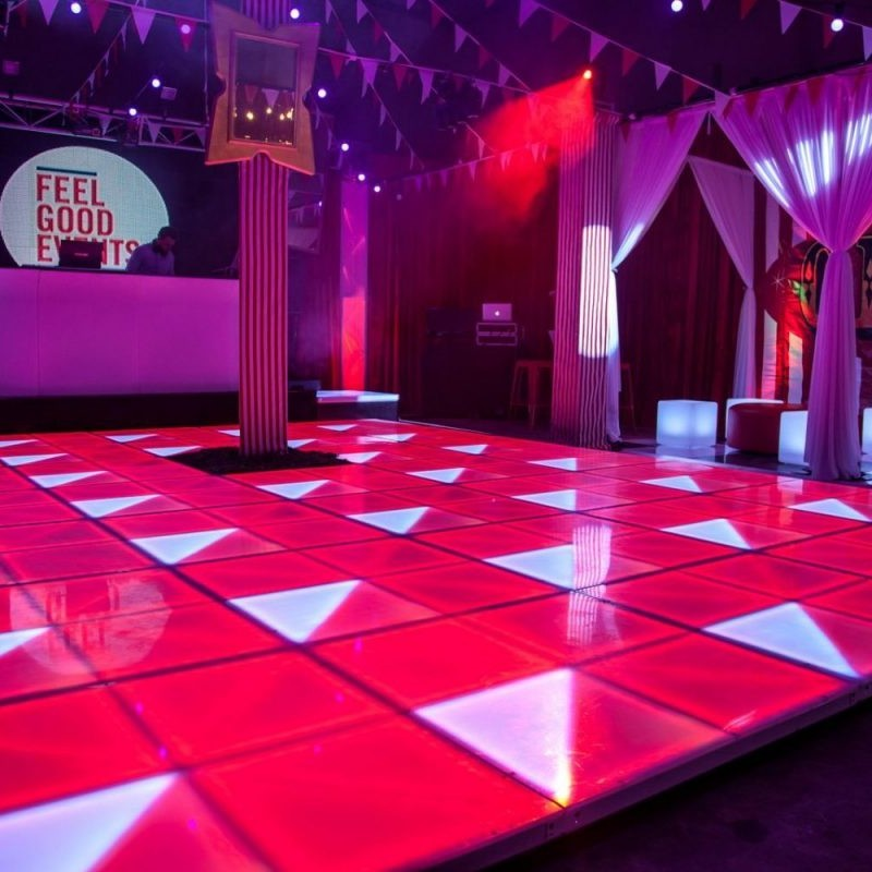 LED dance floor Illuminated hire