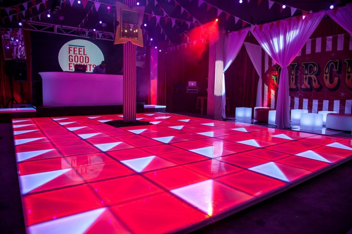 LED dance floor Illuminated hire