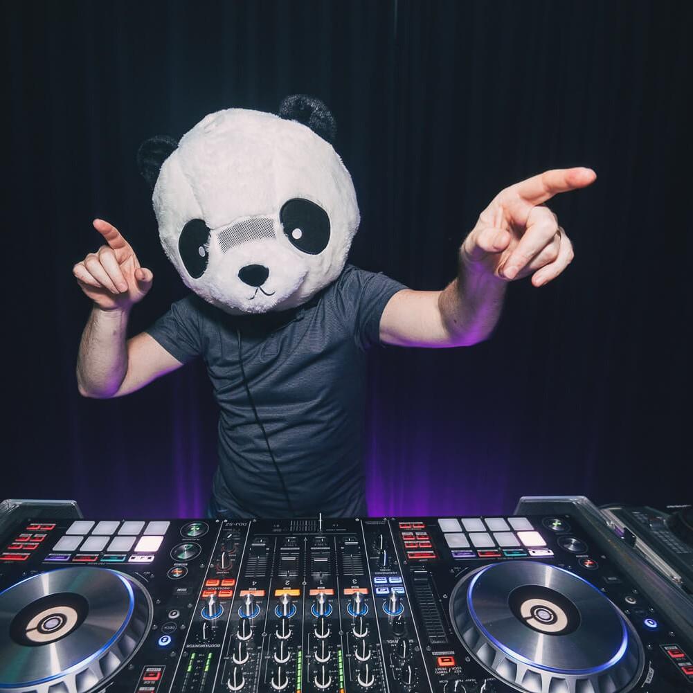 Fun DJ Hire Melbourne Panda Mask