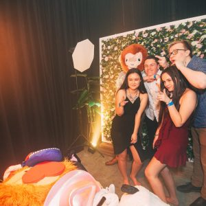 Jungle backdrop photobooth hire melbourne