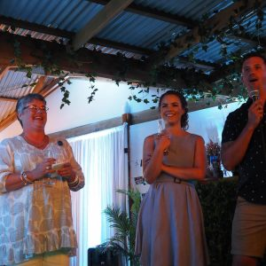 Speeches at Emma & BJs engagement party