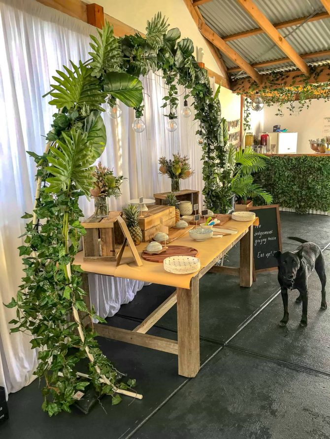 Tropical Oasis Theme Grazing Table Hire Melbourne