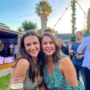 Vine covered festoon light hire melbourne at engagement party