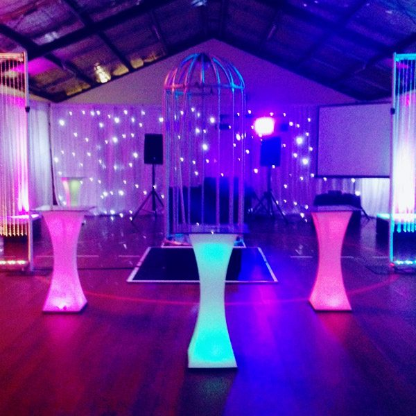 Led High Bar Table Hire Feel Good Events Melbourne