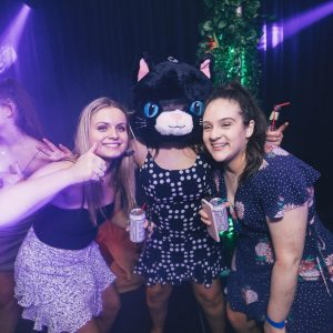 cat mask in dance party hire melbourne