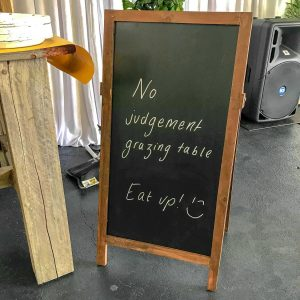 chalk board hire melbourne at engagement party